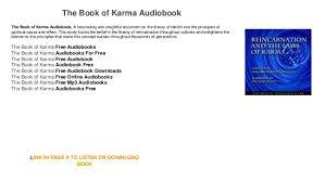 the book of karma audiobook the book of karma audiobook