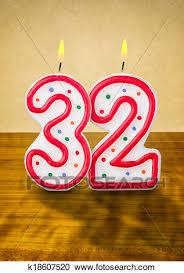 number birthday candles stock illustrations of burning birthday candles number 32