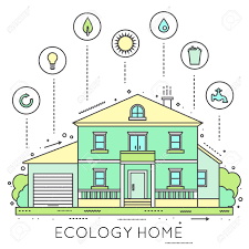 eco friendly home infographic ecology green house house in