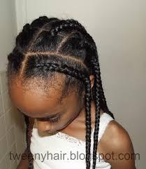 tweeny hair simple style cornrows and box braids