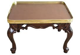 Brass Tray Table Uncategorized Rococo Walnut And Brass
