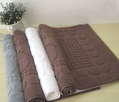 Jacquard Bath Rug Solid Color Jacquard Bath Mat Hotel Bath Mat Rainbow Towel