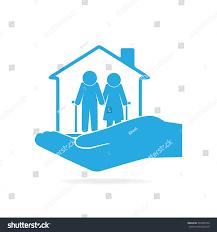 nursing home elderly hand icon care stock vector 562385554