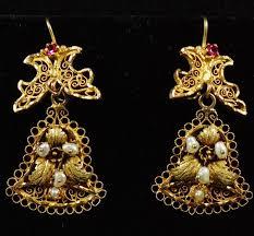 folklorico earrings aretes oaxaqueños en forma de cana elaborados en filigrana de