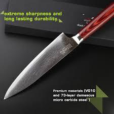 vg10 kitchen knives haoye 8 inch chef knife japanese vg10 damascus steel multipurpose