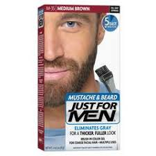 just for men light brown just for men touch of gray mustache and beard target
