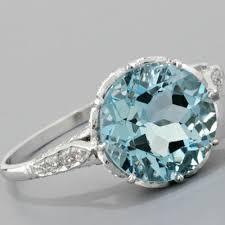 aquamarine wedding rings aquamarine engagement ring