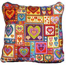 pillow embroidery kits animal fayre needlepoint cushions kit