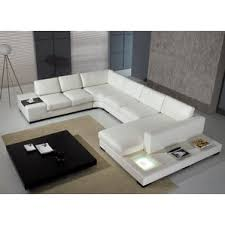 Leather Chaise Couch Modern Sectional Sofas Allmodern