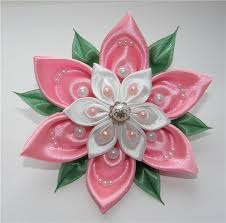 ribbon flowers how to make ribbon flower in 5 minutes decorating flower and
