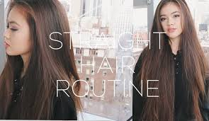 how to cut long hair to get volume at the crown straight hair routine volume hair tips viviannnv youtube