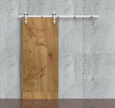 Barn Door For Closet Diyhd 6ft 8ft Rustic White Coated Sliding Barn Door Hardware