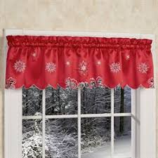 Window Curtain Valance Christmas Holiday Window Treatments Curtains Valances Touch Of Class