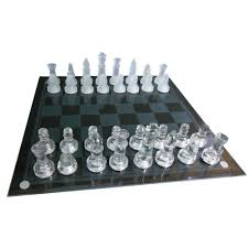 coolest chess sets glass chess set medium size made entirely from glass menkind