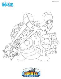 skylanders giants coloring pages crusher colouring dog to