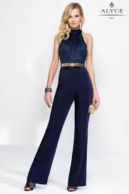 formal jumpsuit alyce claudine 2576 halter top formal jumpsuit novelty
