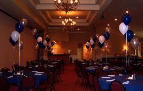 tablecloths decoration ideas blue white also golden balloons on the middle of table with