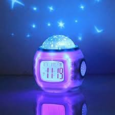 Amazon Com Children Room Sky Star Night Light Projector Alarm Clock