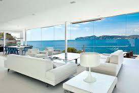 stunning modern idea of villa design in white scheme living space