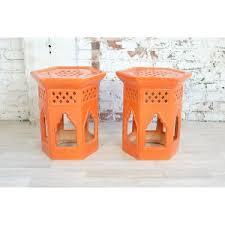 Orange Side Table Catalog Gather And Lounge