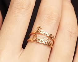 gold name ring dainty name ring children name ring name ring gold