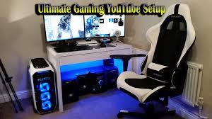 gaming chair with monitors surprising ultimate gamingyoutube setup
