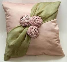 pillow ribbon embroidery almohadones ribbon in