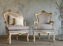 French Louis Bedroom Furniture by Vintage Shabby Cream U0026 Gilt Louis Xv French Style Armchairs Pair