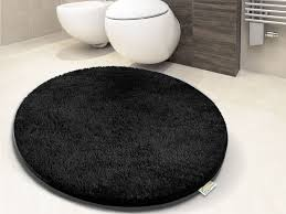 bad in schwarz 2 thick bathroom carpet black 6 sizes available