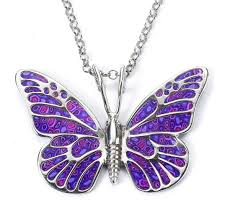 purple necklace pendant images 925 sterling silver butterfly necklace handcrafted pendant jpg