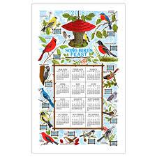 kay dee designs song bird u0027s feast 2018 calendar towel the paper