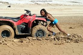 Quad Memes - quad atv girl mud stuck