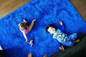 Bright Colored Rugs Love Marriage Baby Nap We Bought A Blue Rug