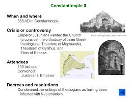Council Of Constantinople 553 Timeline Of The Church 30 Ad To The Present Ppt