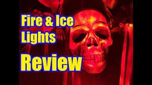 Halloween Skull Lights by Fire U0026 Ice Led Lights Review Spirit Halloween Youtube