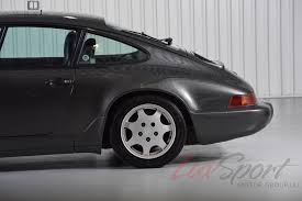porsche slate gray metallic 1990 porsche 964 carrera 4 coupe stock 1990128 for sale near new