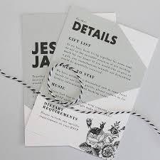 Wedding Invitation Information Card Black Rose Wedding Invitation Suite By Love Ink Design