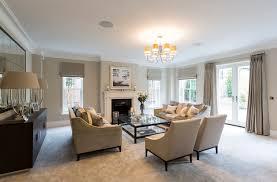 livingroom idea living room new build home quarndon derbyshire blue living room