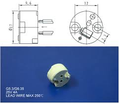 mr16 halogen lamp socket mini bi pin 12v ceramic lamp holder