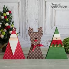 christmas trio elves craft kits and diy wood crafts