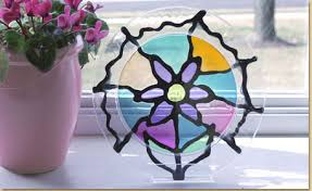 Kids Stained Glass Craft - make a