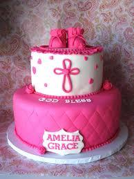 heavenly bites cakes pink u0026 white baby christening cake