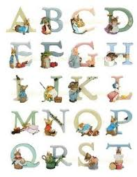 range of border arts beatrix potter alphabet letters figurine