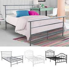 twin full size metal bed platform frame bedroom heavy duty steel
