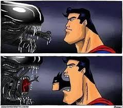 Superman Better Than Batman Memes - aliens vs superman batman alien know your meme