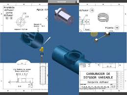 autodes inventor planos de un carburador youtube