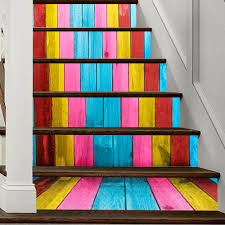 online shop pvc stickers for stairs colorful 3d wallpaper