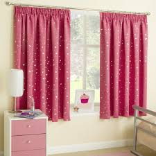 Curtains 46 Inches Moonlight Moon Pink Silver Thermal Blockout Childrens