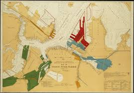 Map Of Boston Harbor by Map Of Boston Inner Harbor Norman B Leventhal Map Center