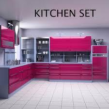 kitchen set p2 3d model hum3d